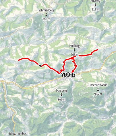Karte / Panoramahöhenweg: Rund um den Hubberg & entlang der Schnapsstraße