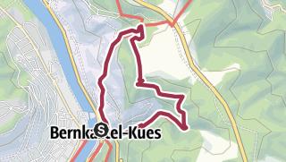 Map / Ferienland-Wanderweg - Maria-Zill Panoramaweg  - Bernkastel-Kues