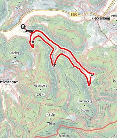 Karte / Golddorf-Route Lenne