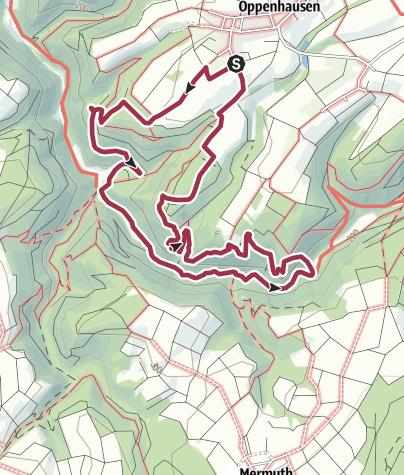 Karte / Traumschleife Ehrbachklamm