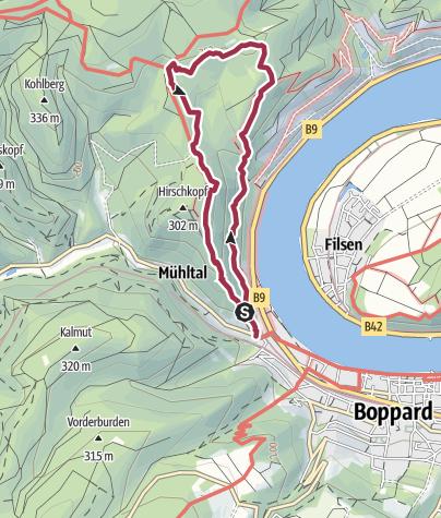 Mittelrheintal Karte.Traumschleife Mittelrhein Klettersteig Wanderung