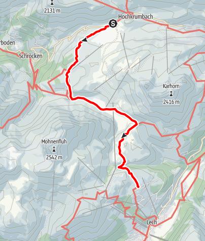 Karte / 02 Hochtannberg - Oberlech