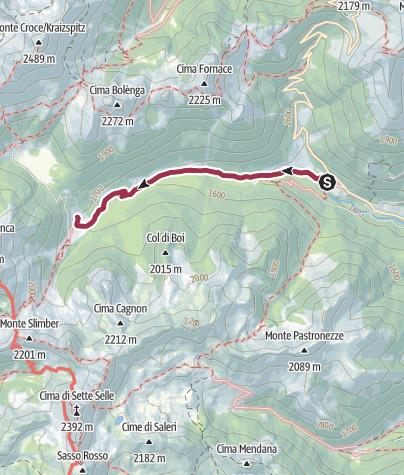 Cartina / Trekking - Malga Cagnon (Percorribile anche con passeggino)
