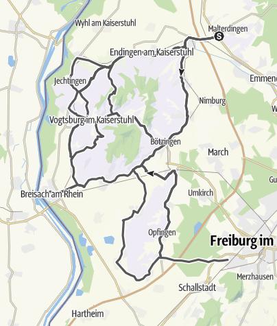 Karte / Badische Weinstraße | Kaiserstuhl-Tuniberg Route