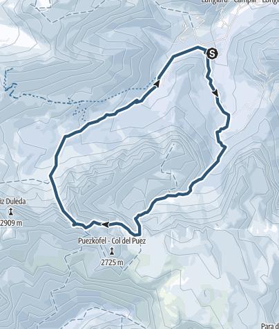 Karte / Östliche Puezspitze, Canale Nord