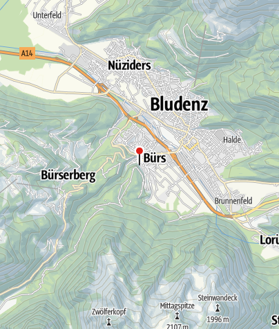 Karte / Bürs, Katholische Pfarrkirche Heiliger Martin