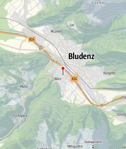 Karte / Bürs, Katholische Pfarrkirche Maria Königin des Friedens