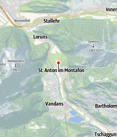 Karte / St. Anton im Montafon, Katholische Pfarrkirche Heiliger Antonius Eremit