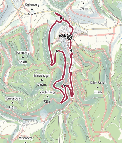 Map / Golddorf Route Bödefeld / Hollenpfad