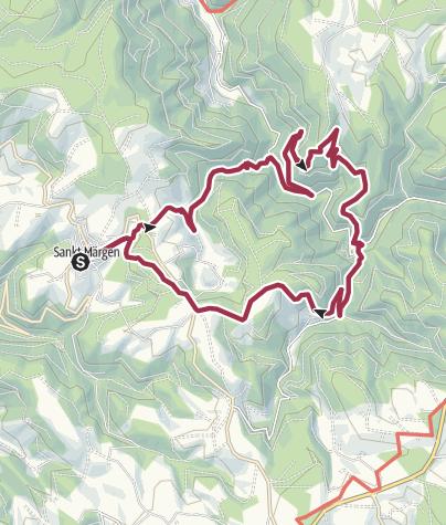 Karte / Durch wilde Täler zum Balzer Herrgott
