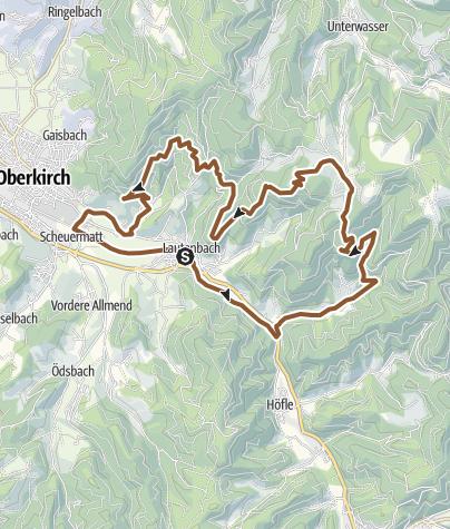 Karte / Lautenbach - Kleine Sohlberg Tour