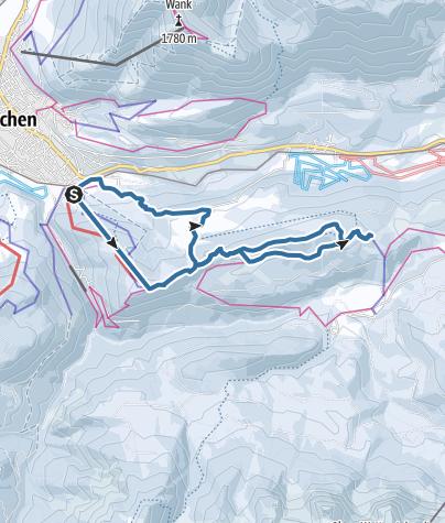 Karte / Elmauer Alm vom Eckbauer