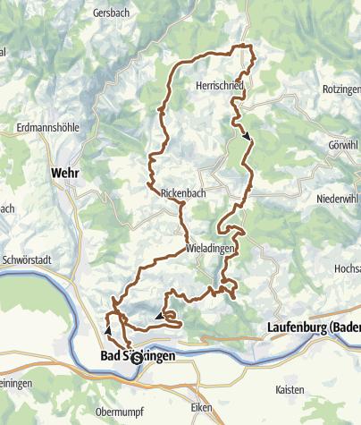 Karte / Auf den Spuren von Sabine Spitz