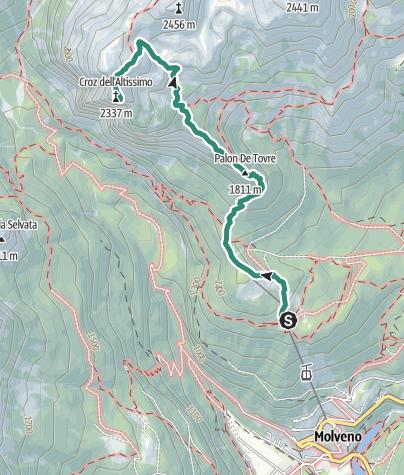 Map / Cima Croz dell'Altissimo