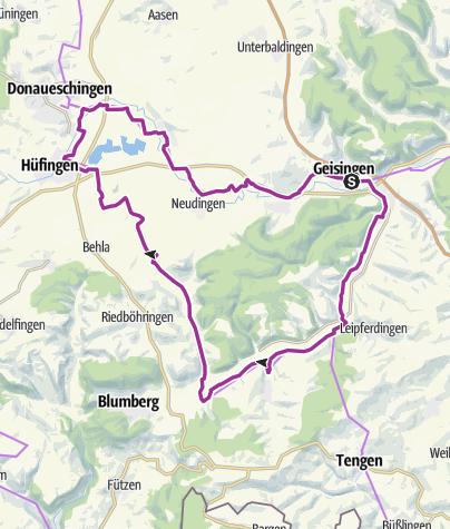 Karte / Donaubikeland (Tour 10) - Badische Tour