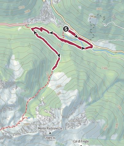 Cartina / Trekking Sentiero natura - L'Oasi WWF di Valtrigona
