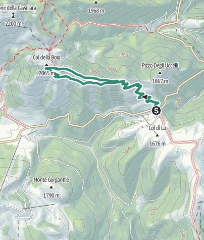 Cartina / Trekking - Il Trodo dei Fiori