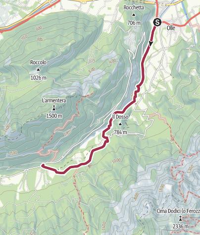 Cartina / Trekking Sentiero Don Cesare Refatti