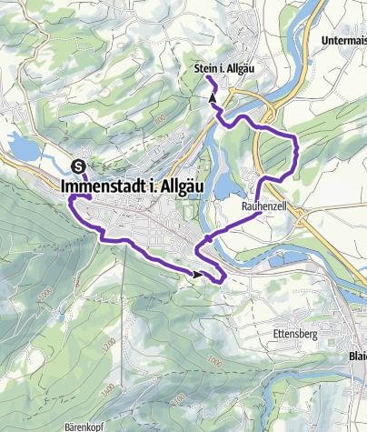 Karte / Von Immenstadt über Rauhenzell nach Stein