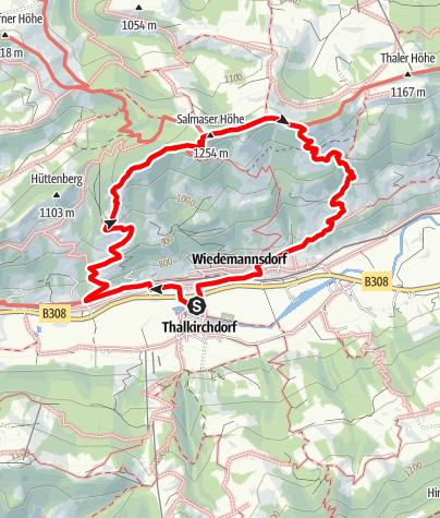 Karte / Thalkirchdorf - Salmaser Höhe