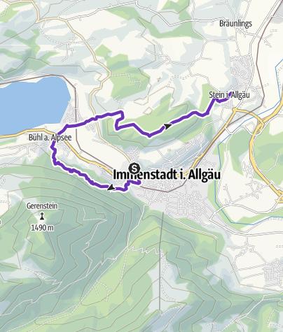 Karte / Von Immenstadt über Bühl nach Stein