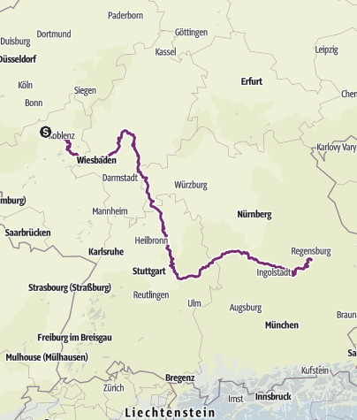Karte / Limes Radweg