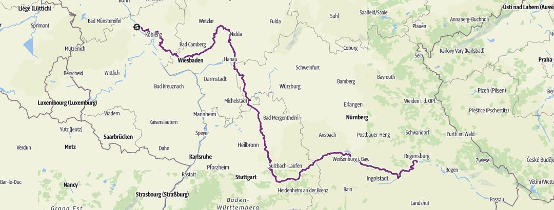 Map / Limes Radweg