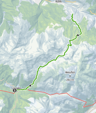 Map / From Schanfigg over  into Prättigau (Langwies - Conters)
