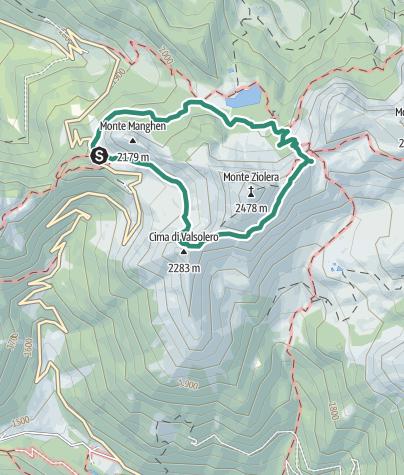 Cartina / Trekking al Monte Ziolera