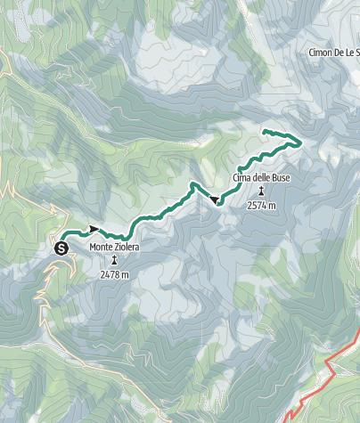 Cartina / Trekking al lago delle Stellune dal Passo Manghen