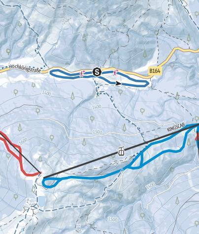 Cartina / Hochkönigloipe am Dientner Sattel