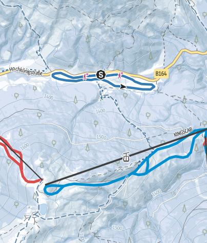 Mapa / Hochkönigloipe am Dientner Sattel