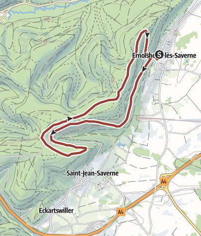 Karte / Archäologischer Rundwanderweg / Circuit archéologique