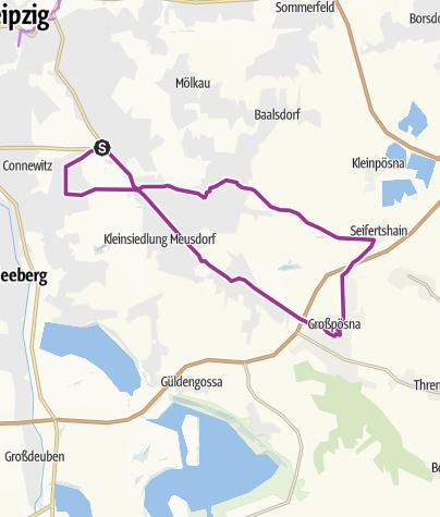 Karte / LVZ-Fahrradfest 2018: Little-John-Bikes-Tour (110-Kilometer)