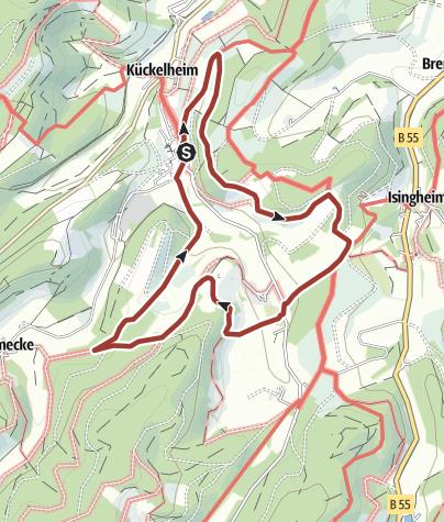Karte / Franzikusweg