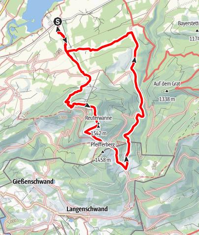 Karte / Bergwanderung über die Reuterwanne