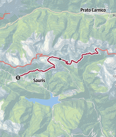 Karte / A 074/V1 - Von Sauris di Sopra zum Rifugio Casera Losa