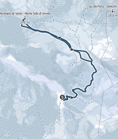Map / Monte Sella di Sennes - grandioser Skigipfel in den Dolomiten