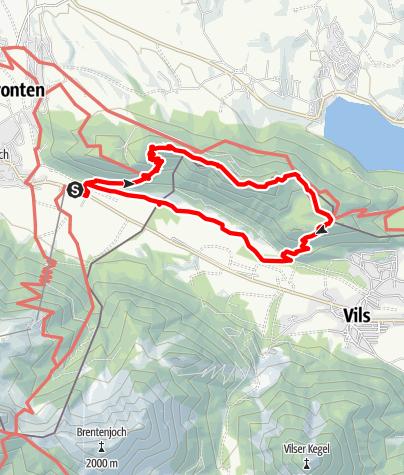 Karte / Rundtour über Falkenstein und Salober