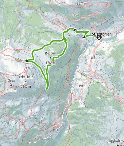 Map / St. Antönien: hike in the moor
