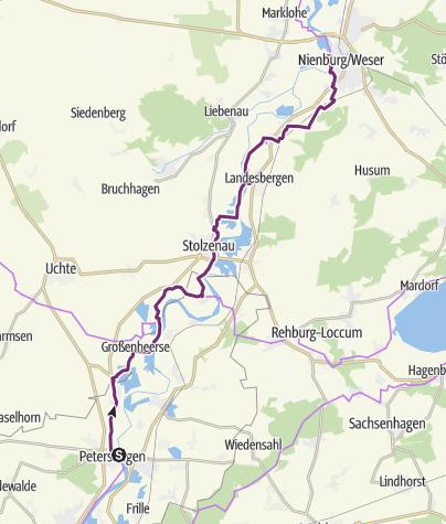 Map / Weser-Radweg, 08.Etappe: Von Petershagen bis Nienburg