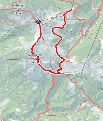 Karte / Wanderung über den Aggenstein
