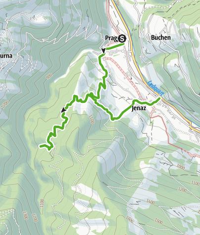 Map / Public swimming baths of Jenaz