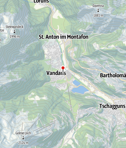 Karte / Vandans, Neue Pfarrkirche
