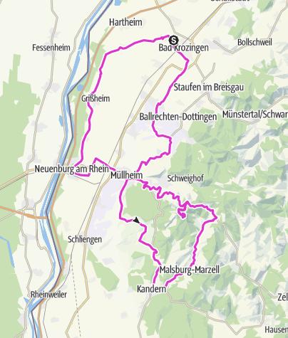 Karte / Bad Krozingen - RR 02 - Hochblauenrunde
