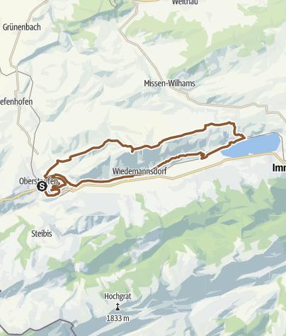 Karte / Singletrails und Salmaser Höhe bei Oberstaufen