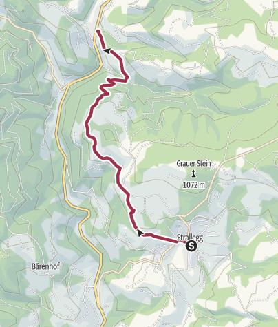 Karte / Strallegg-Kleinlandl-Frauengraben.Pacher