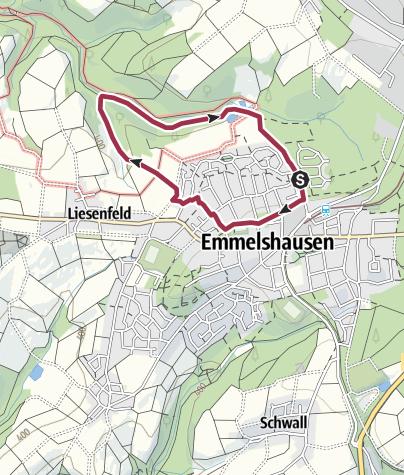 Karte / Spaziergang 1 - Emmelshausen