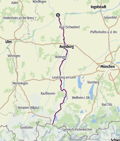 Map / Via Claudia Augusta Bavaria
