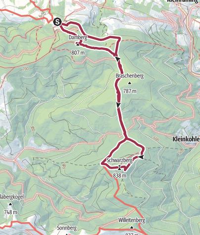 Map / Damberg-Schwarzberg-Runde über Steyr